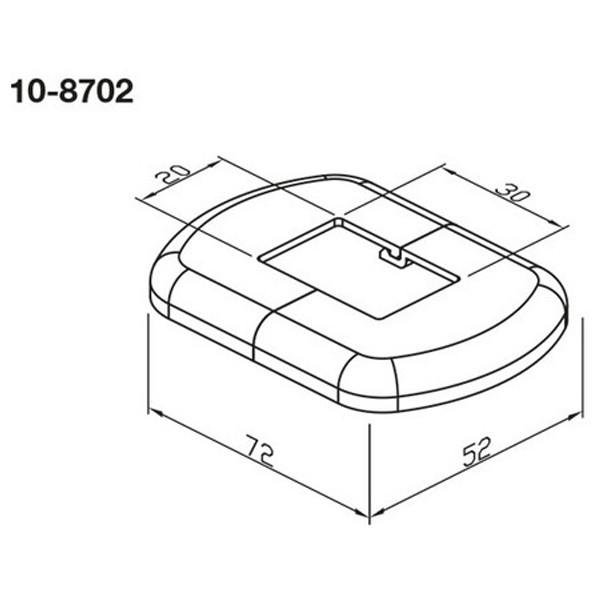 WEMEFA Kunststoffrosette, 2teilig, weiß für Standrohr 30x20mm