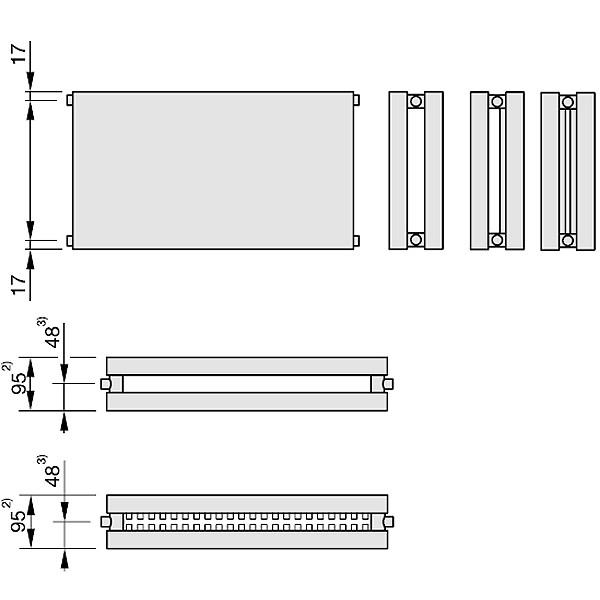 Zehnder Plano, Heizwand Typ PH21, horizontal