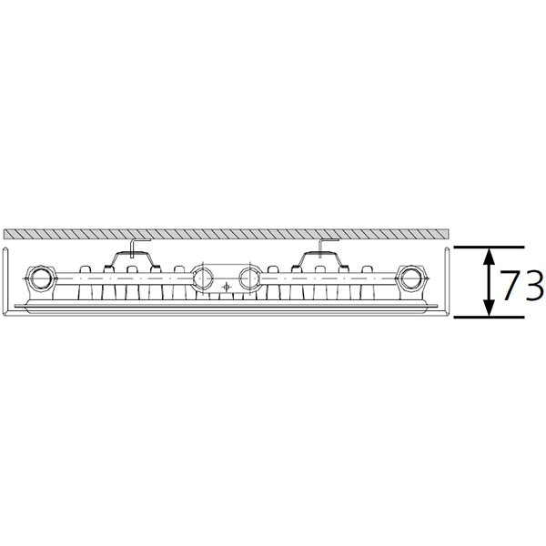 Purmo Dekorativheizkörper Tinos Vertikal Elektro Typ 11, einlagig ein Konvektor