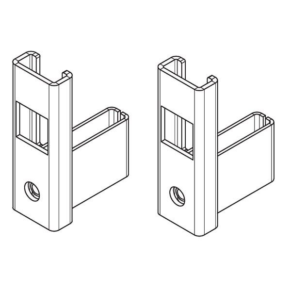 Kermi Befestigungs-Set Strahlungsschirm für Standkonsole außenliegend Anforderungsklasse III