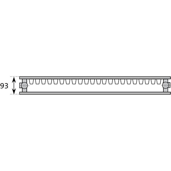 Purmo Dekorativheizkörper Narbonne Ventil Typ 21, zweilagig ein Konvektor