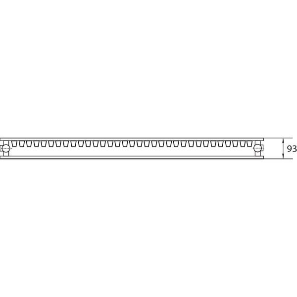 Purmo Dekorativheizkörper Narbonne Vertikal Ventil Typ 21, zweilagig ein Konvektor
