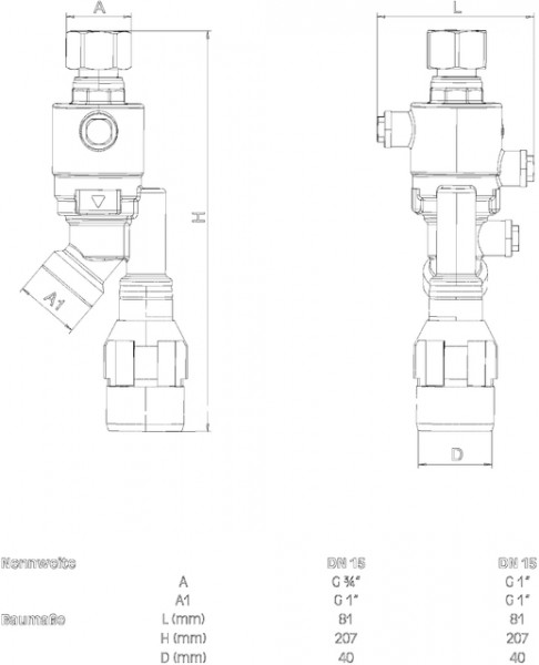 SYR Systemtrenner 6625, STBA 220 für Zapfventil, DN 15