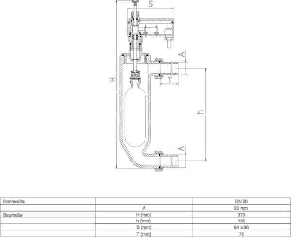 """SYR Wassermangelsicherung 3/4"""" Typ 933.1 für geschl. Anlagen, # 0933.20.000"""