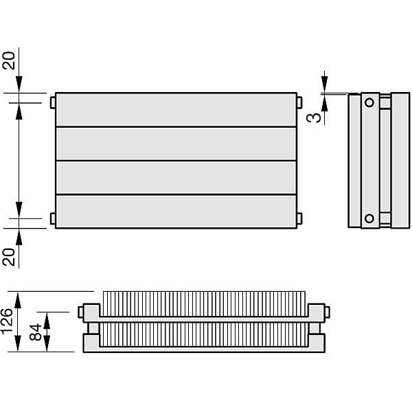 Zehnder Radiapanel, Heizwand Typ HLHL, mit Lamellen, horizontal