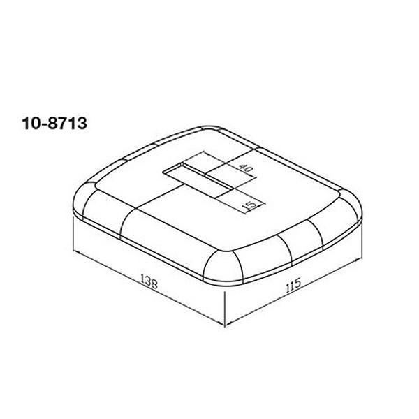 WEMEFA Kunststoffrosette weiß-glänzend für Fuß 701