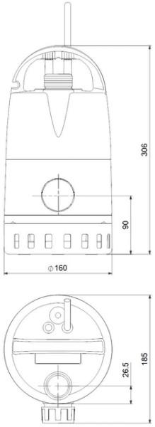 GRUNDFOS UNILIFT-CC-7M1, 230V, 10m Kabel Kellerentwässerungspumpe, # 96280967