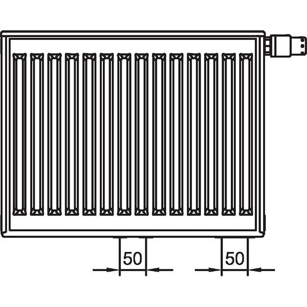 Kermi therm-x2 Profil-Vplus-Ventilheizkörper Typ 22, zweireihig zwei Konvektoren