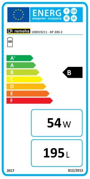 Remeha RE Trinkwasserspeicher BP 200-2 EC631, Beistellspeicher, 200 L., weiß