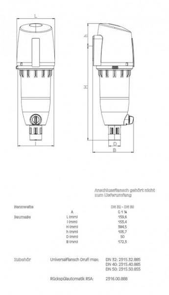 AHT max-Rückspülfilter RF Nr.2315.00.886