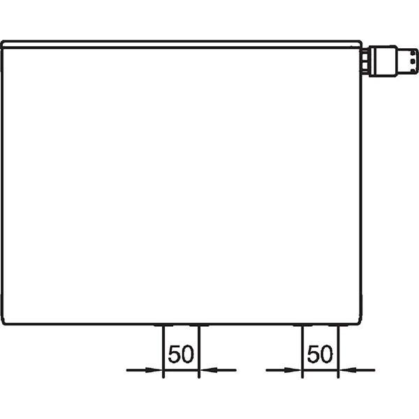 Kermi therm-x2 Plan-Vplus-Ventilheizkörper Typ 10, einreihig ohne Konvektor