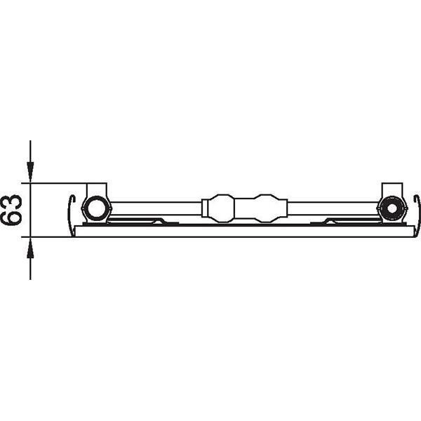 Kermi Verteo-Line-Flachheizkörper Typ 10, einreihig ohne Konvektor