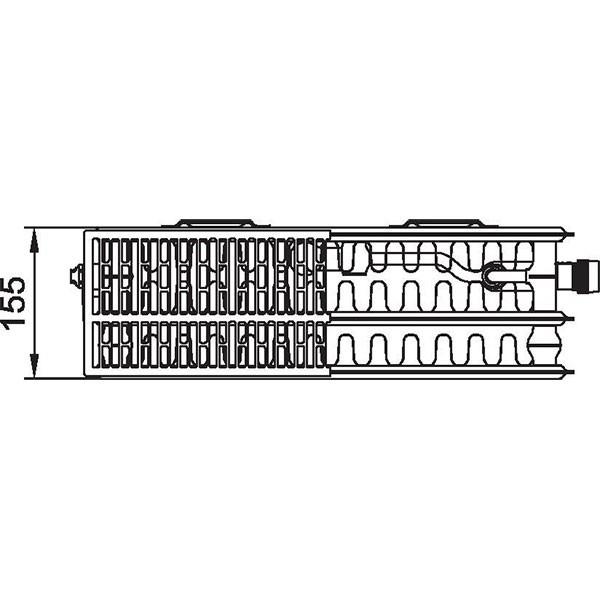 Kermi therm-x2 Profil-Vplus-Ventilheizkörper Typ 33, dreireihig drei Konvektoren