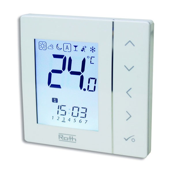 roth uhrenthermostat basicline t 230v alternative haustechnik. Black Bedroom Furniture Sets. Home Design Ideas