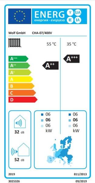 WOLF Wärmepumpe CHA-Monoblock 10/400V mit E-Heizelement
