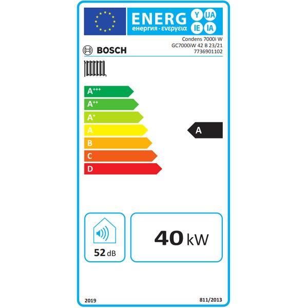 BOSCH Gas-Brennwertgerät, wandhängend Condens GC7000iW 42 B 23/21, schwarz