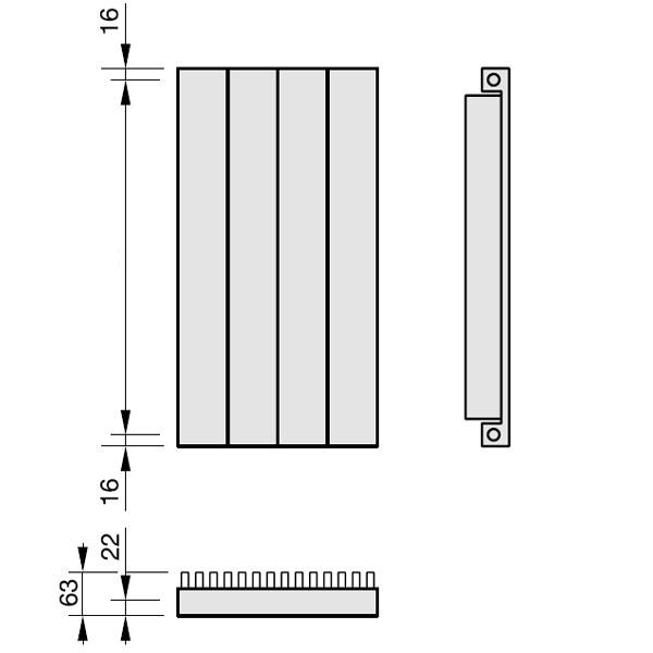 Zehnder Radiapanel, Heizwand Typ VL, mit Lammele, vertikal