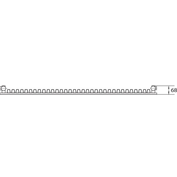Purmo Dekorativheizkörper Narbonne Vertikal Ventil Typ 11, einlagig ein Konvektor