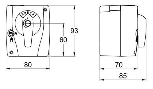 AHT Stellmotor für 3-Wege-Mischer 24 VDC/AC