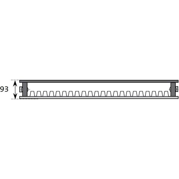 Purmo Dekorativheizkörper Narbonne Ventil mit Wärmeschutzschirm Typ 11-W, zweilagig ein Konvektor