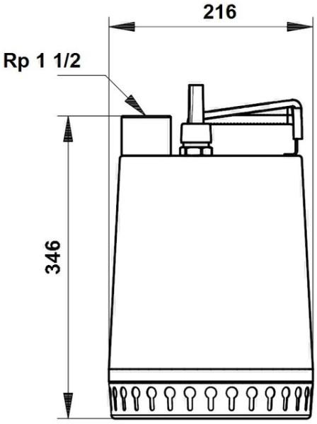 GRUNDFOS Schmutzwasserpumpe Unilift AP12.40.08.1 10 m Kabel, 230V, GRUNDFOS # 96001869