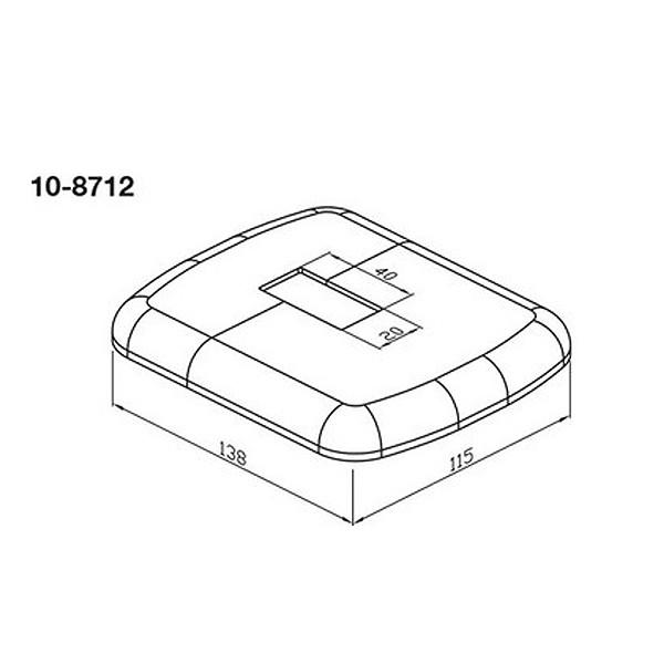 Wemefa Kunststoffrosette weiß-glänzend für Fuß 813