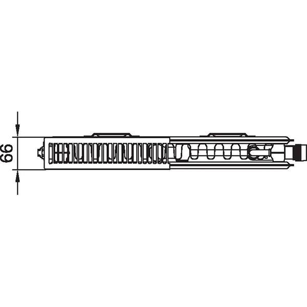 Kermi therm-x2 Plan-Vplus-Ventilheizkörper Typ 12, zweireihig ein Konvektor