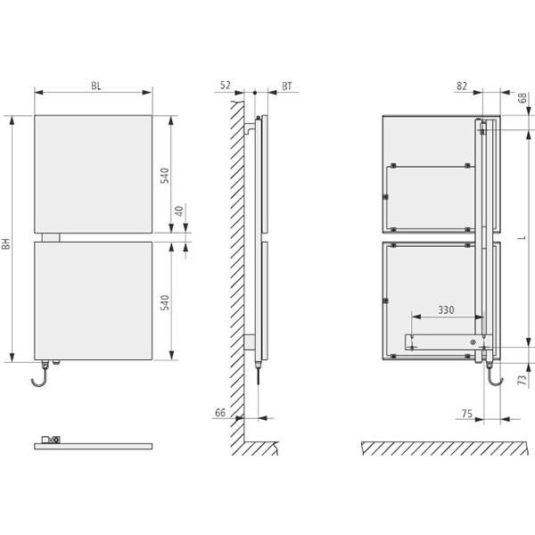 Kermi Signo-Elektro Design-Badheizkörper