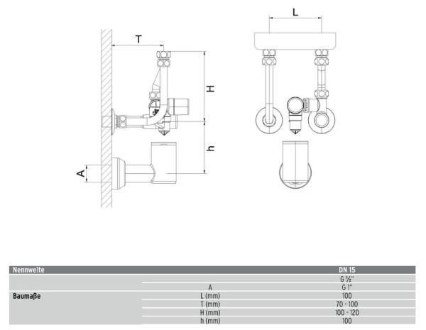 "AHT Sicherheitsgruppe KV 30 DN15 (1/2"") 6 bar verchr. (A20)"