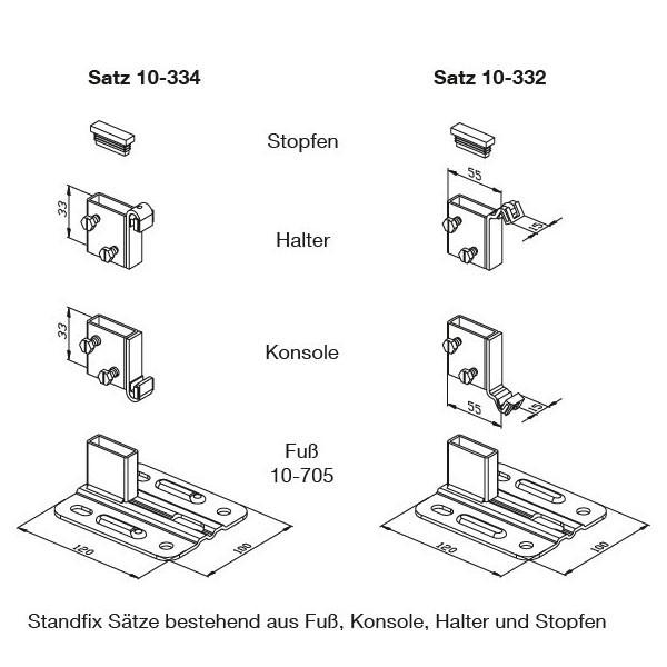 WEMEFA Standkonsolen Standfix 334 Aufhängelaschen 334