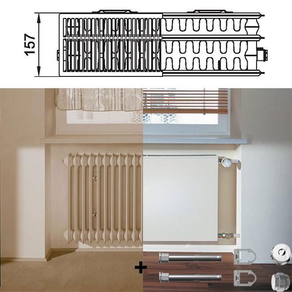 kermi therm x2 plan kompakt austauschheizk rper typ 33. Black Bedroom Furniture Sets. Home Design Ideas
