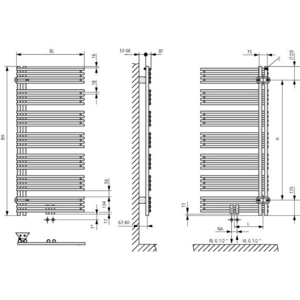 Kermi Diveo Design-Badheizkörper