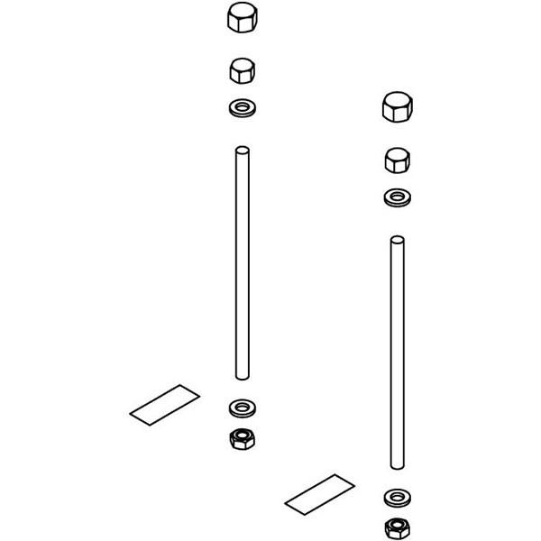Kermi Befestigungs-Set für Rahmenkonsole