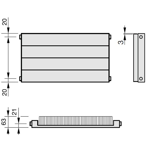 Zehnder Radiapanel, Heizwand Typ HL, mit Lamellen, horizontal