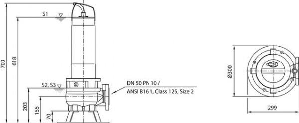 Wilo Abwasser-Tauchmotorpumpe Rexa FIT V05DA-222/EAD1-2-T0025-540-O, # 6064589