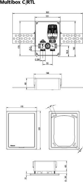 HEIMEIER UP-Kasten Multibox C/RTL mit innenliegendem RTL, weiß RAL 9016