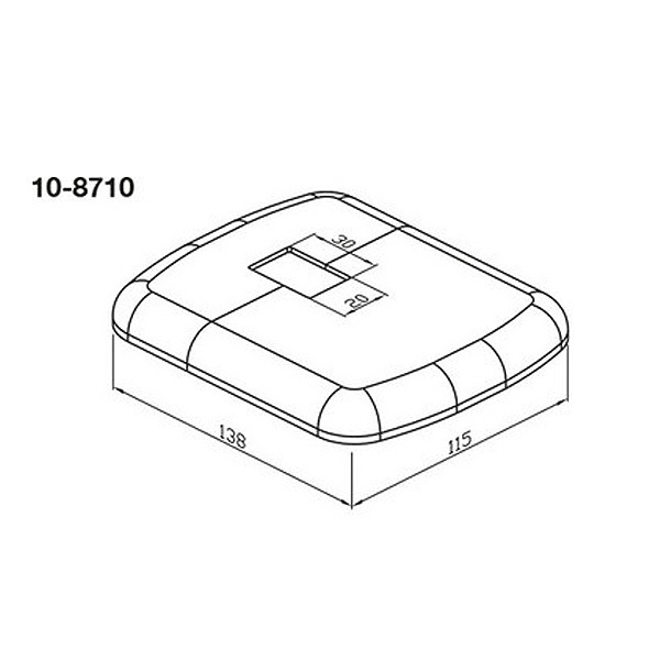 Wemefa Kunststoffrosette weiß-glänzend für Fuß bzw.Hubkonsole 850, 8500