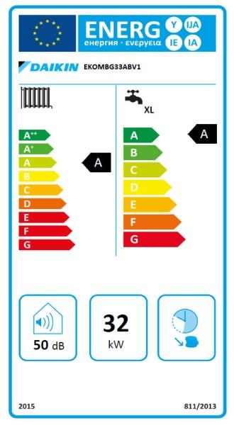 DAIKIN Altherma C Gas W top 33C, 33 kW Gaskessel mit integr. WW-Bereitung