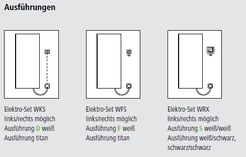 Elektro-Sets Ausführungen Kermi Pateo Elektro-Zusatzbetrieb Design-Badheizkörper