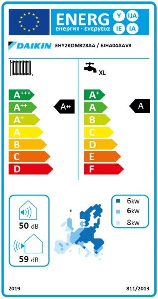 DAIKIN Altherma H Hybrid, 28 kW Gasbrennwertkessel und Wärmepumpe IG