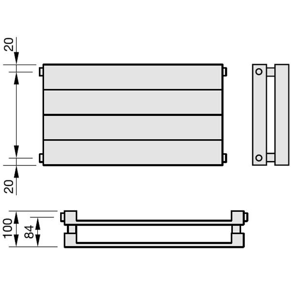 Zehnder Radiapanel, Heizwand Typ HH, horizontal