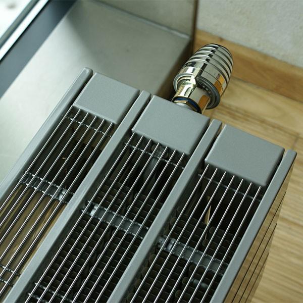 Purmo Dekorativheizkörper Narbonne Ventil mit Wärmeschutzschirm Typ 23-W, dreilagig drei Konvektoren