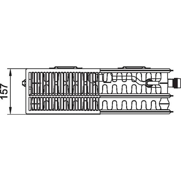 Kermi therm-x2 Plan-Vplus-Ventilheizkörper Typ 33, dreireihig drei Konvektoren