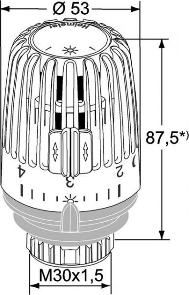 HEIMEIER Thermostat-Kopf K mit Nullstellung weiß