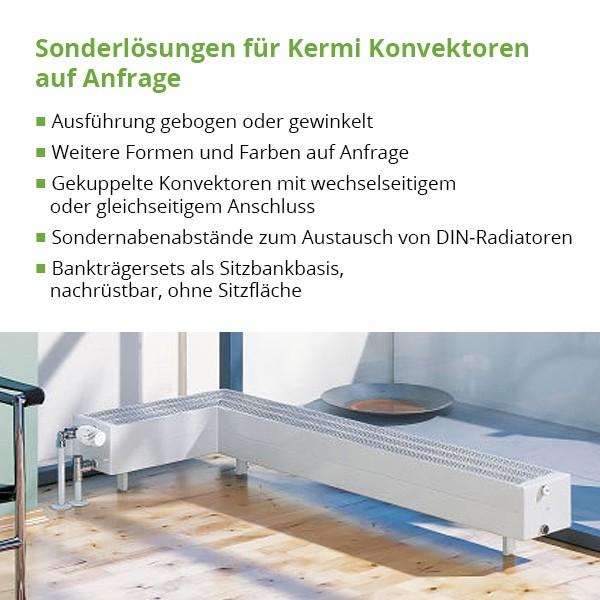 Kermi Kompakt-Ventil-Konvektor Typ KKV10, BH 150mm, BL 1000mm